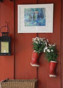 """""""Rødt hus og grantrær"""" eller Lillestua."""