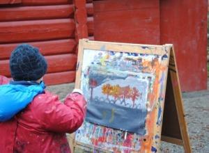 Vi har malt to bilder av Kittelsen.