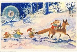 Reven, Kittelsen på julekort.